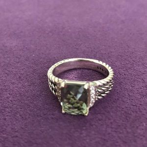 David Yurman Petite Wheaton Sz 8 Prasiolite Ring